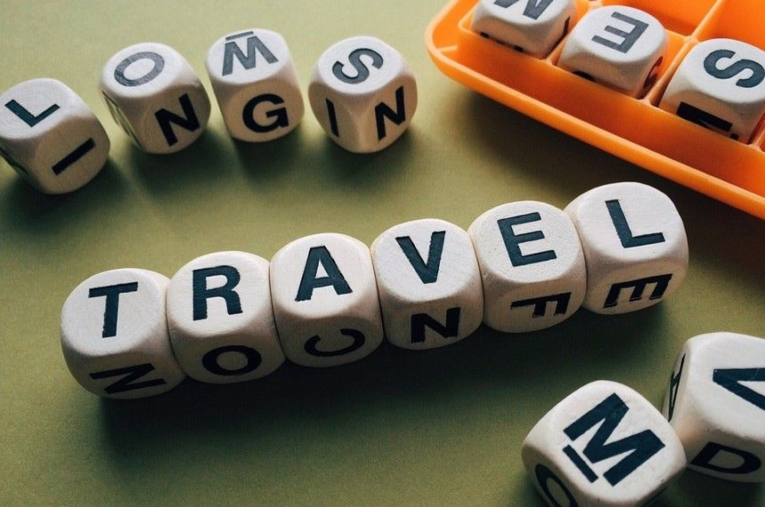 Boggle cubes that spell travel